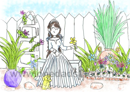 Princess sarah in garden_web